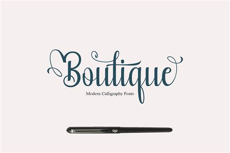 Calligraphy Font by Boutique Calligraphy Font Befonts