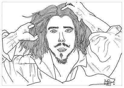 Coloring Portrait Self Pages Adult Courbet Gustave