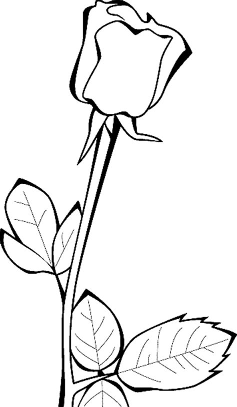 Coloring Pages Of A Single Flower Coloring Page