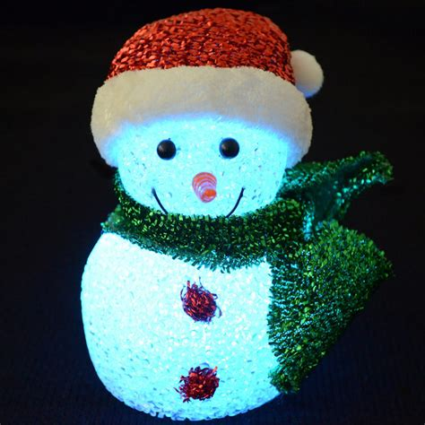 light up snowman 6 quot decoration snowman light up led