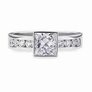 square cut diamond engagement ring in white gold smales With square cut diamond wedding rings