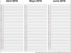 2018 Calendarios Anuales para imprimir Calendarios Para