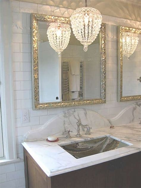 45 inspirations of small chandeliers for bathroom