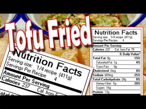 tofu calories tofu nutrition facts youtube