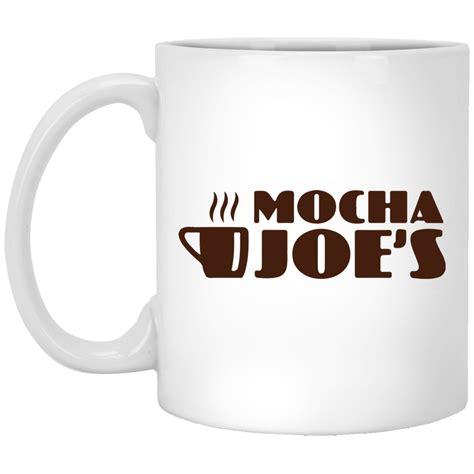 The original rubber bottom kona joe coffee mug is the long standing favorite. Mocha Joe's Coffee mug, white mug