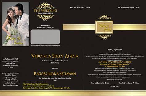 desain undangan pernikahan terbaru cdr