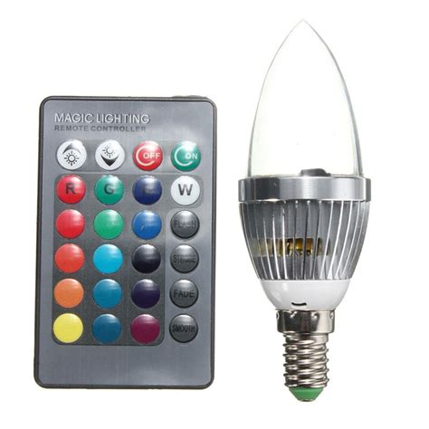 remote control color changing lights big promotion e14 3w rgb led 16 color changing light