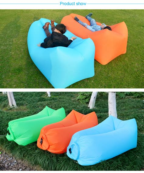 Inflatable sofas can double as beds, too. Wholesale Outdoor Inflatable Sofa For The Camping Nyoln Ripstop Air Sofa Beach Easy To Carry ...