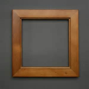 wooden box frame for framing clay prints