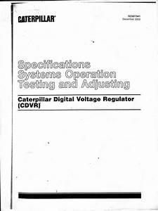 Caterpillar Digital Voltage Regulator   Service Manual