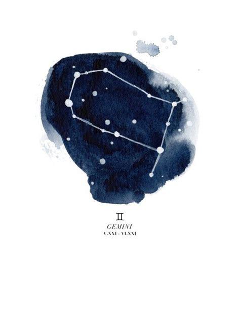 zodiac constellation gemini art print  littlest