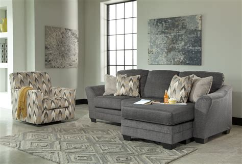 braxlin charcoal sofa  chaise marjen  chicago