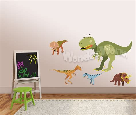 Dinosaur Wall Decals T Rex 4 Dinosaurs Wall Decor For