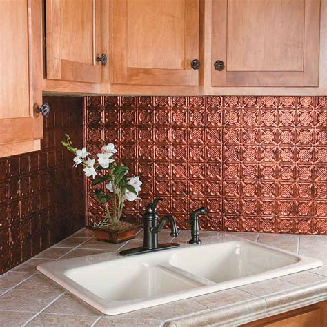 backsplash panels for kitchens kitchen dining metal frenzy in kitchen copper backsplash ideas stylishoms com kitchen