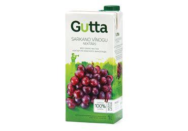 Nektārs GUTTA sarkano vīnogu 1L