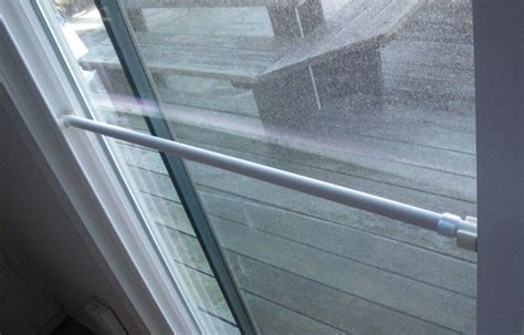 sliding glass patio door security bar build a lock bar for a sliding glass door