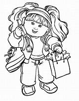 Coloring Pages Cabbage Patch Colouring Sheets Cartoon Printable Cabage Kid Children Sheet Silhouette Clipart Character Characters Dolls Calling Teamcolors Learn sketch template