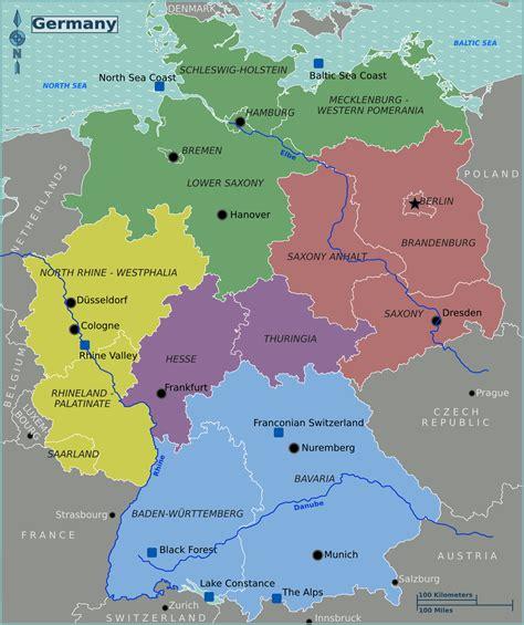 germany region map region map  germanygermany