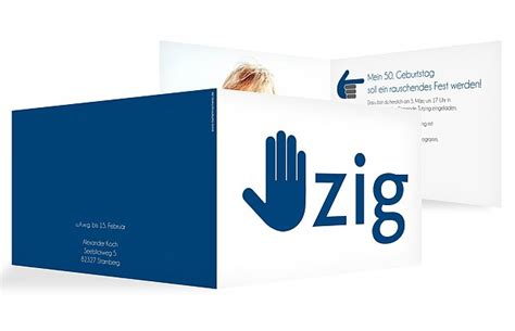einladung  geburtstag handzeichen
