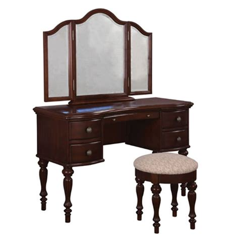Shop For Vanity by Shop Powell Cherry Makeup Vanity At Lowes