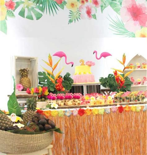 Tropical Hawaiian Themed Beach Party Ideas Tropical