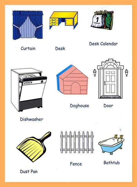 best tools to around the house household items vocabulary for kids