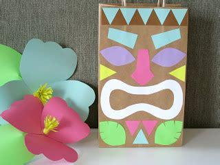 hawaiian craft ideas luau paper bag tiki design sprinkle 2162