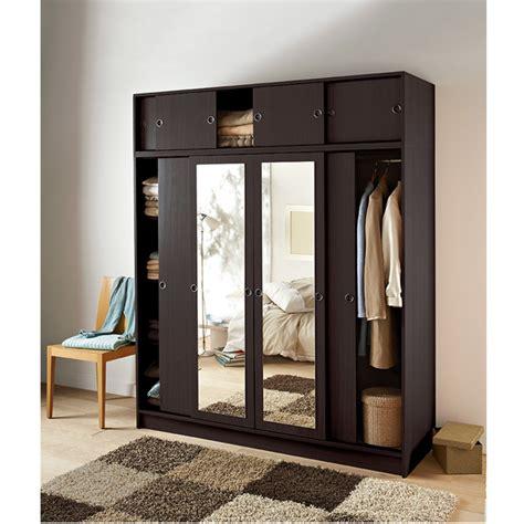 penderie 4 portes coulissantes le bois chez vous