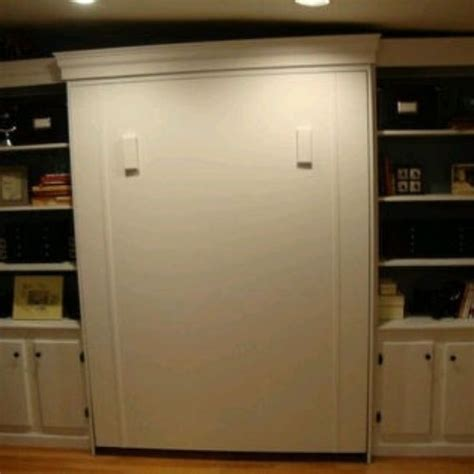 custom size murphy bed with side shelving cabinets