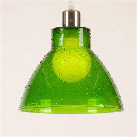 retro green glass ceiling pendant light shade funky