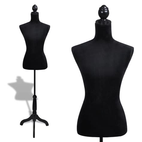 female form mannequin vidaxl co uk ladies bust display black female mannequin