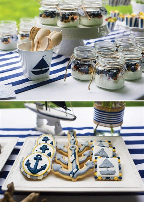 ahoy   boy preppy nautical baby shower white