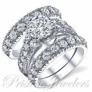Ring Set Silber : 925 sterling silver women 39 s wedding band aaa cz bridal engagement ring 3pc set ebay ~ Eleganceandgraceweddings.com Haus und Dekorationen