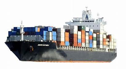 Cargo Container Ship Kapal Transparent Laut Barang