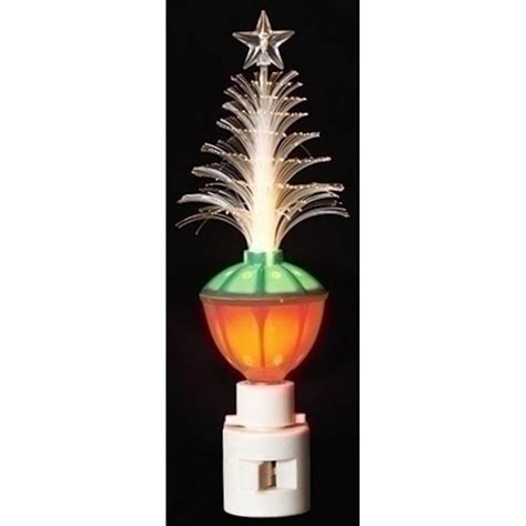 christmas tree bubble night light roman 55333 7 quot christmas tree fiber optic bubble light