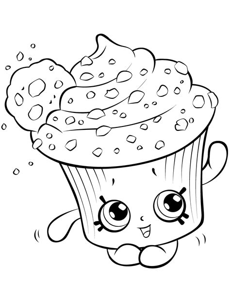 Cream Cake Shopkin Coloring Page Free Printable Coloring