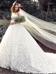 brautkleid mit schleppe ösen hochzeitskleider 2016 ballkleid applique weißem tüll brautkleid mit langer schleppe