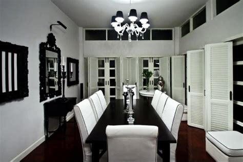Stylish Black And White Dining Room Designs