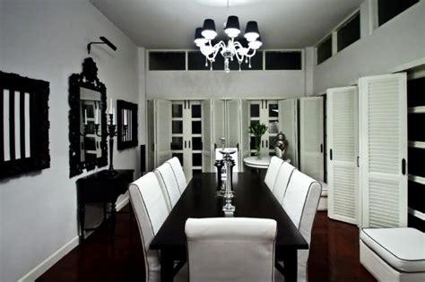 stylish black  white dining room designs