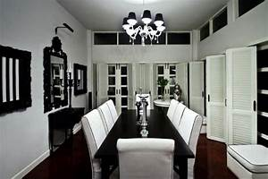 Stylish, Black, And, White, Dining, Room, Designs