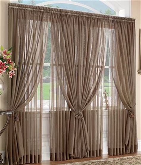 Hanging Sheer Curtains With Drapes - 25 best ideas about large window curtains on