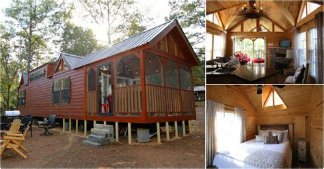 rustic cabin  alabama takes tiny living