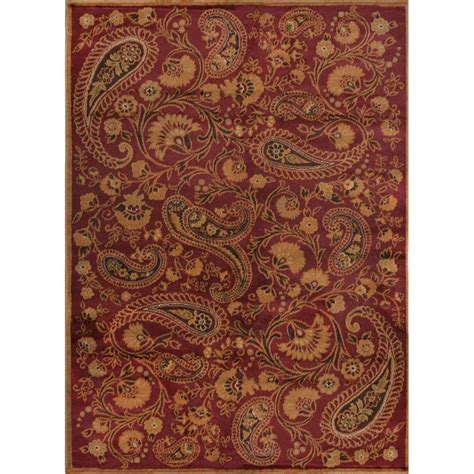 home dynamix paisley red  ft     ft   indoor area rug  hd   home depot
