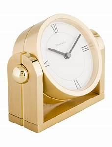 Tiffany, U0026, Co, Desk, Clock, -, Decor, And, Accessories