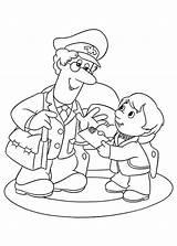 Coloring Postman Pat Skydiving Office Mail Truck Template Deliver Kid Postal Pirate Bulkcolor Printable Santa Cartoon Colouring Sheets Easter sketch template