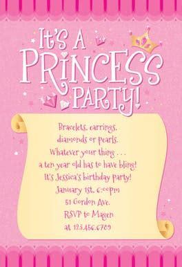 princess invitation template   island