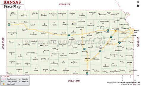 kansas state map map  kansas state