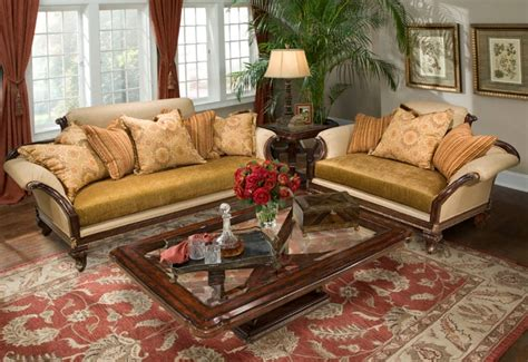 Style Sofa Sets by Isadora Rolled Arm Upholstered Formal Antique Style Sofa Set