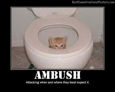 ambush demotivational poster
