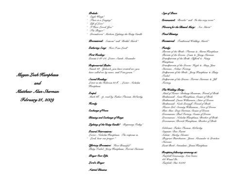 best photos of catholic wedding programs template catholic wedding program template free